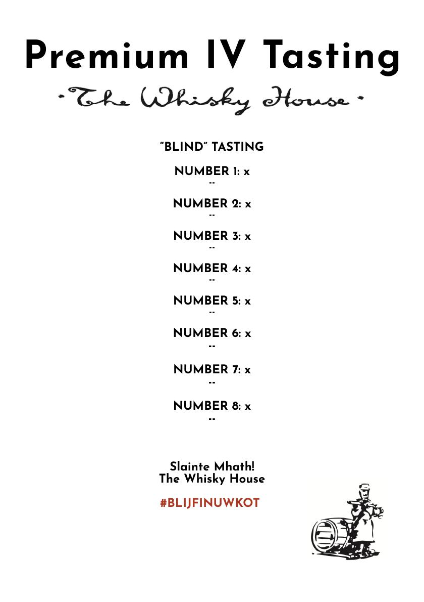 Premium Whisky Tasting - Virtual Proeverij - Online   The Whisky House, Affligem